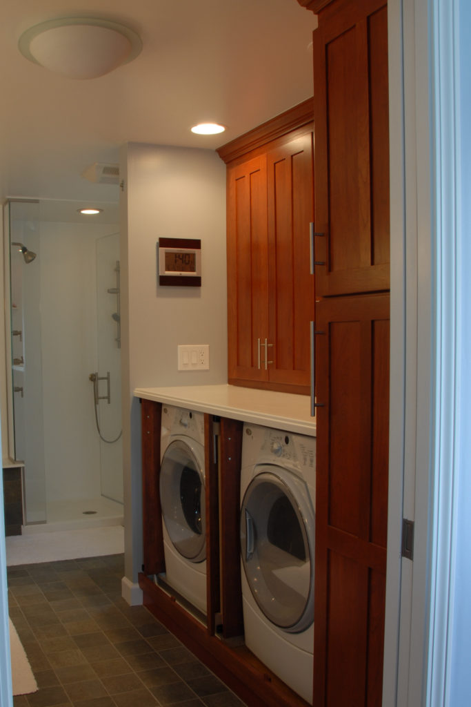 Washer/Dryer Storage open
